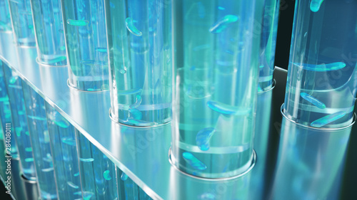 3D Illustration biofuel oil research in the laboratory, biofuel concept Wallpaper Mural