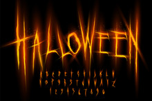Halloween Font, Letters And Nu...