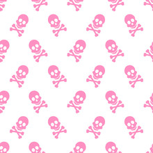 Cute Pink Skeleton Pattern