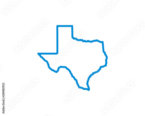 Texas Map Icon vector. symbol for web site Computer and mobile vector. Wall mural