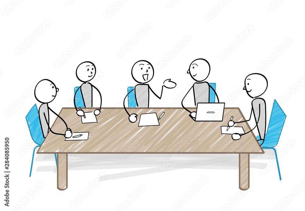 Fototapeta 会議をする人々