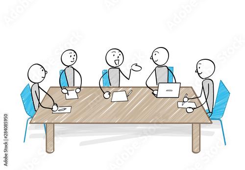 Slika na platnu 会議をする人々