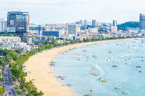 Foto auf AluDibond Licht blau Pattaya Thailand - 26 July 2019 Beautiful landscape and cityscape of pattaya city in Thailand