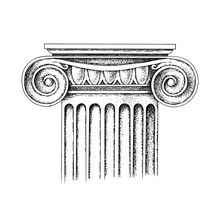 Hand Drawn Capital Of The Ionic Order