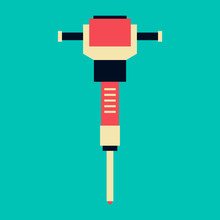 Jackhammer Icon. Simple Illust...