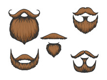 Beard And Moustache Color Sket...