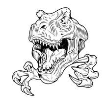T-REX Tyrannosaurus Rex Big Dangerous Head Of Dino