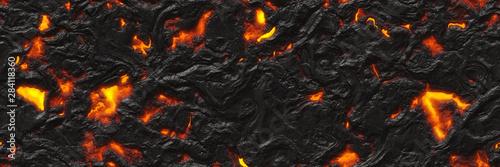 Obraz na plátně Volcano- background magma