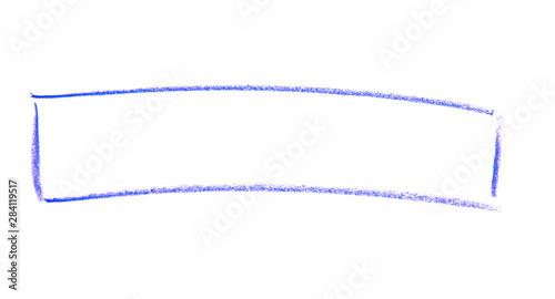 Fotografie, Obraz  Breiter Rahmen oder Umrandung gemalt mit einem blauen Buntstift