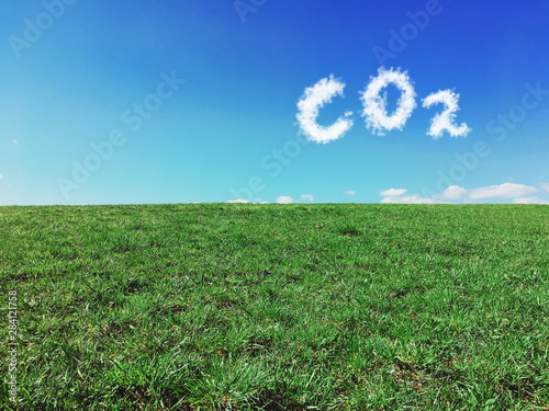 Carbon dioxide emissions control and pollution concept. Canvas-taulu