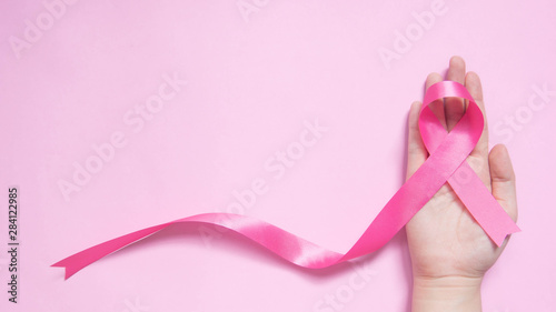 International symbol of Breast Cancer Awareness Month in October Fototapet