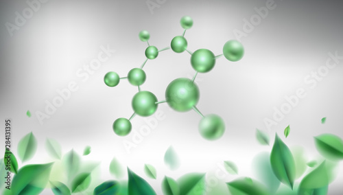 Photo 3d molecules vector design
