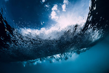 Breaking Wave In Underwater. O...