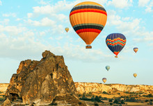 Colorful Air Balloons Fly Up I...