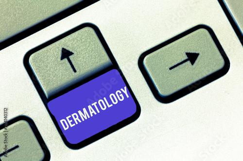 Fényképezés  Conceptual hand writing showing Dermatology