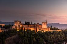 Alhambra Palace At Dusk, Grana...