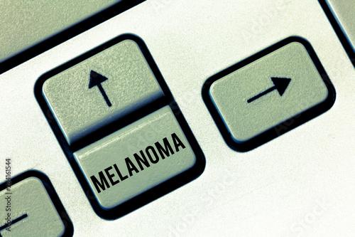 Vászonkép  Handwriting text Melanoma
