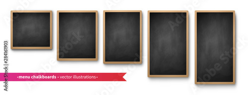 Fotomural  Vector collection of isolated menu boards