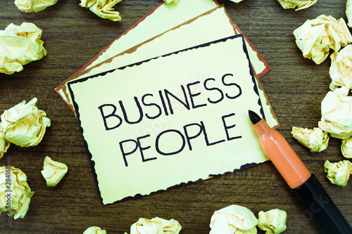 Valokuva  Word writing text Business People