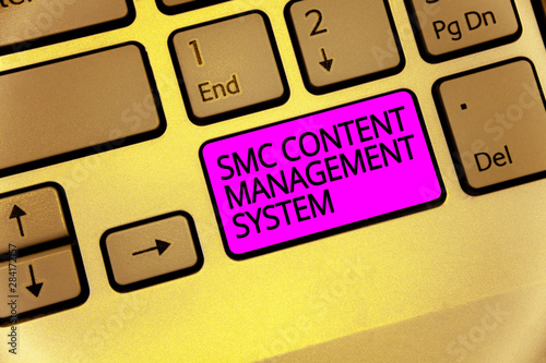 Handwriting text Smc Content Management System Canvas Print
