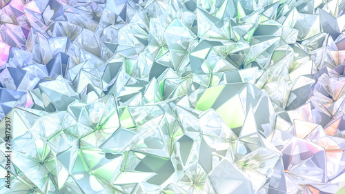 crystal-triangle-background-3d-illustration-3d-rendering