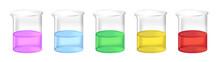 Vector Set Of Chemical Beakers...