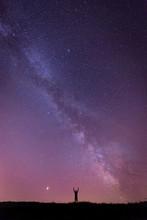 Person Enjoying Looking Stars