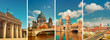 Berlin landmarks, toned collage