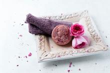 Homemade Rose Soap, Flower And...