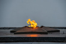 Monument - The Eternal Flame With A Blazing Flame.