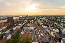 View Of St. Pauli At Dusk, Ham...