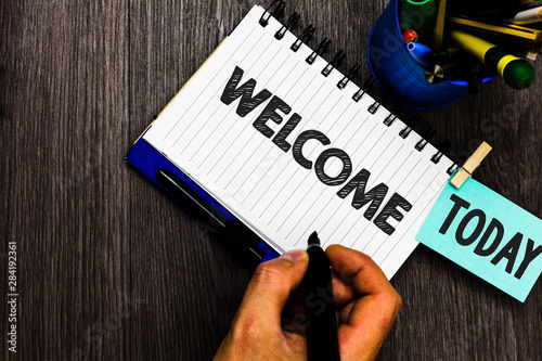 Fotografia, Obraz Text sign showing Welcome