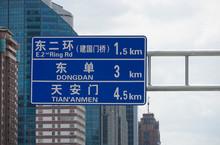 Tiananmen Straßenschild
