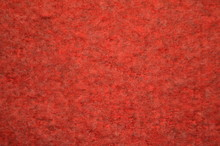 Fuzzy Background. Knitted Red Texture. A Fuzzy Pattern Of Mixed Fibers. Design. Background.