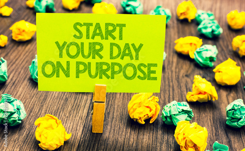 Handwriting text Start Your Day On Purpose Canvas Print