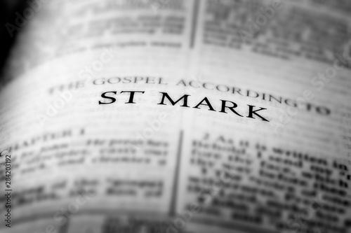 Valokuva  Bible New Testament Christian Gospel St Mark Saint