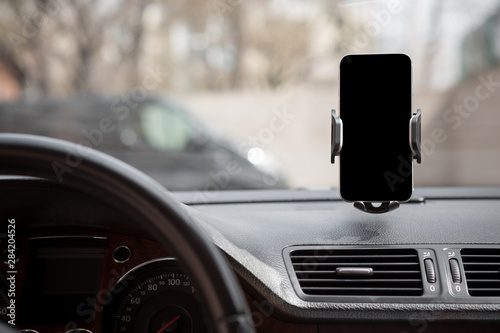 Valokuva Car smart phone holder