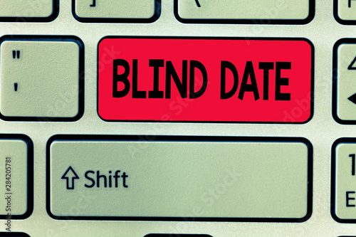 Photo Conceptual hand writing showing Blind Date