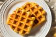 Leinwandbild Motiv Homemade Belgian Sugar Waffles