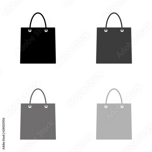 Fototapeta .shopping bag - black vector icon obraz