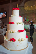 Gourmet Tiered Wedding Cake At...