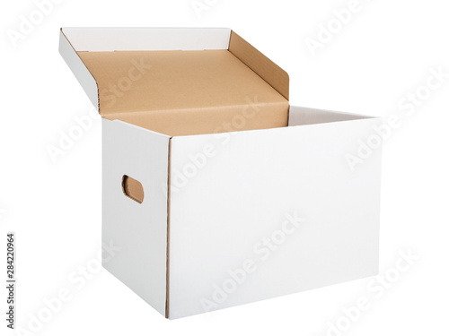 White cardboard archival storage box Canvas Print