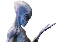 Gray Alien. 3d Render