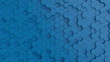 Hexagonal light blue background texture. 3d illustration, 3d rendering