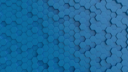 Hexagonal light blue backgr...
