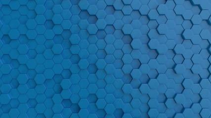 Hexagonal light blue backgr...