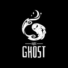 Letter G For Ghost Logo, Rustic/grunge Flat Style, Nightmare/spooky Night Vector Illustration, Halloween/horror Symbol, Creative Design