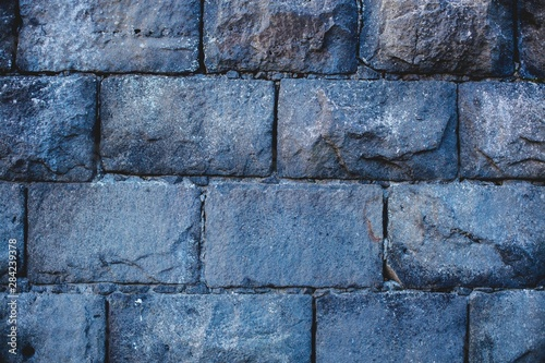 Photo Old ashlar stone wall textures from an old local building.