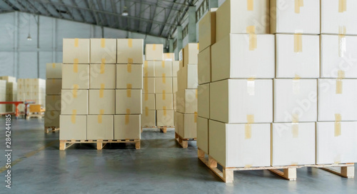 business warehouse, freight transportation Fototapeta