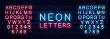 Bright Neon Letters Of Red And...